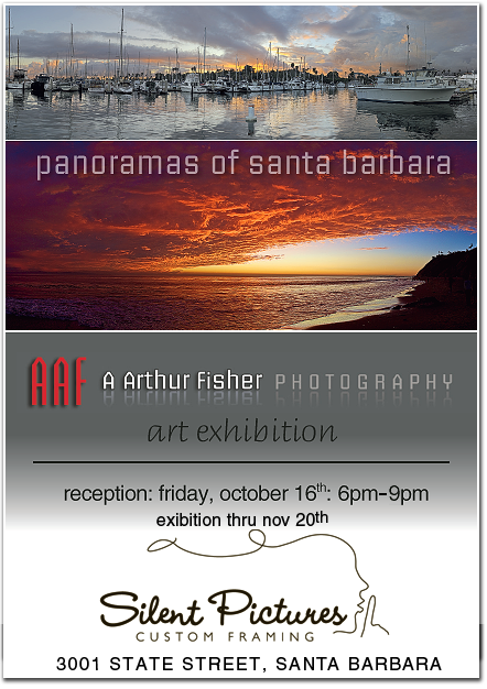 Santa Barbara Panoramas art exhibition, Friday October 16th - November 20th, 2009